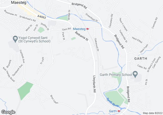 Map for Cwrt Coed Parc, Maesteg, CF34 9DR