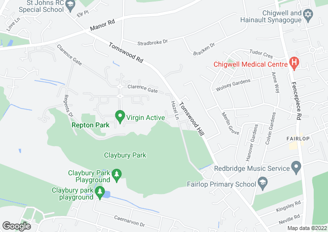 Map for Douglas Close, The Avenue, Repton Park