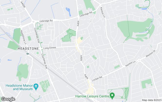 Map for Northwood, Harrow