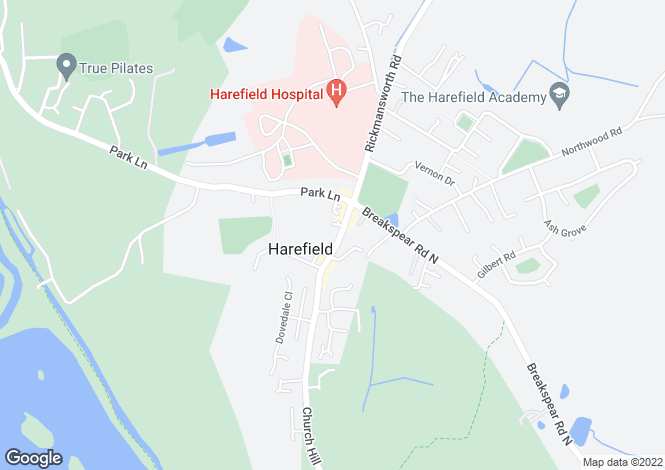 Map for High Street, Harefield, Middlesex