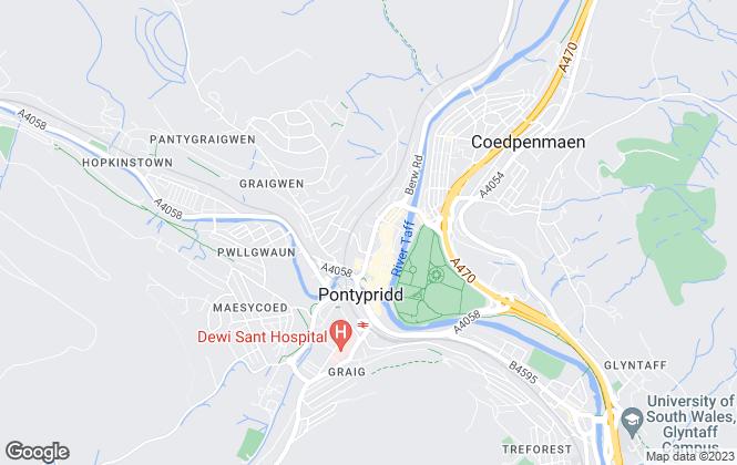 Map for Apex Estate Agent, Pontypridd