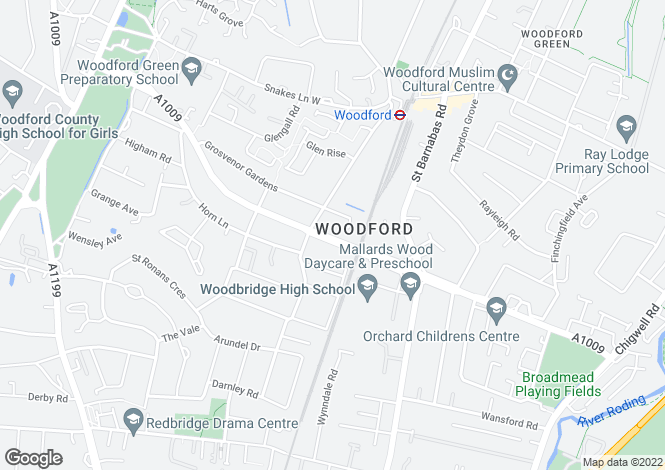 Map for Woodford Green