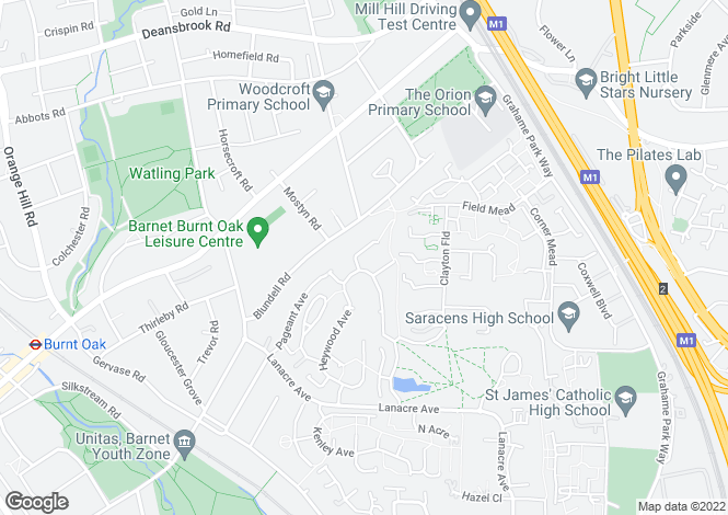 Map for Cranfield Drive,