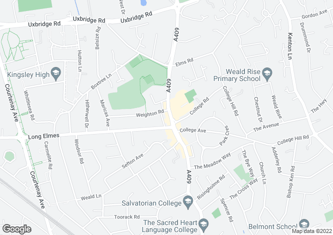 Map for High Road, Harrow Weald