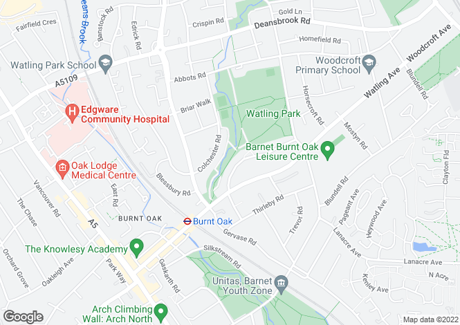 Map for Fortune Avenue, EDGWARE, UK