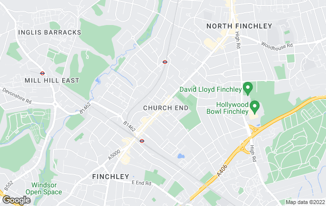 Map for Penny And Lisa Lettings And Management, Finchley