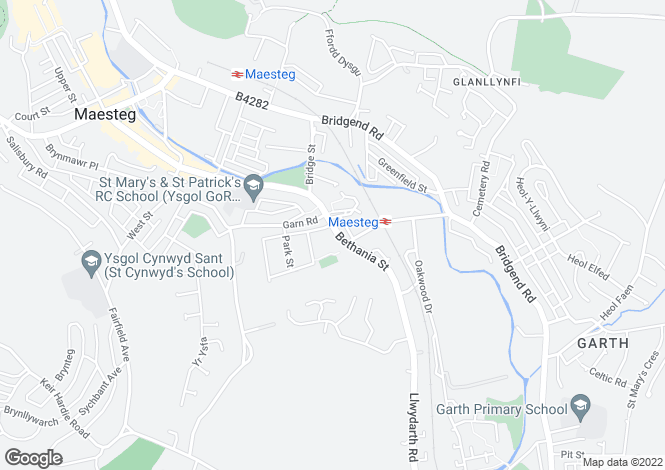 Map for 99 Bethania Street, Maesteg, Maesteg, Mid Glamorgan