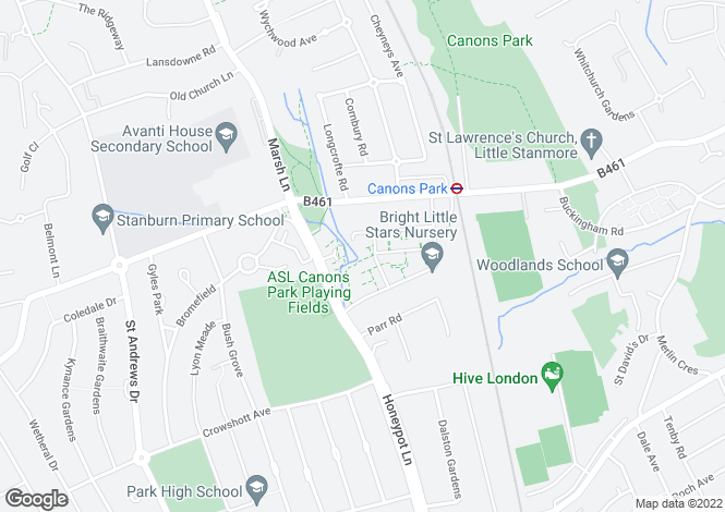 Map for Henry Court, Unwin Way, Stanmore