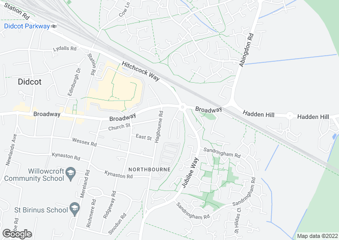 Map for Roebuck Court, Didcot, OX11