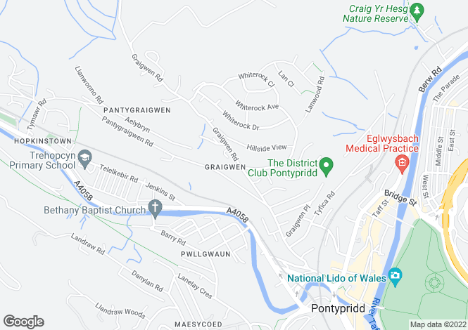 Map for Graigwen Road,  Graigwen