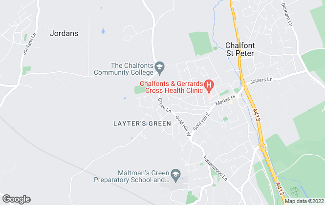 Map for Arthur Grace Residential, Powered by Keller Williams, Chalfont St Peter