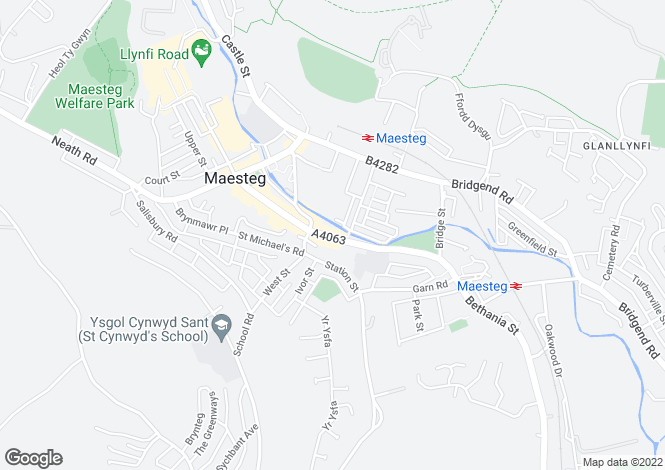 Map for 60 Commercial Street, Maesteg, Maesteg, Mid Glamorgan