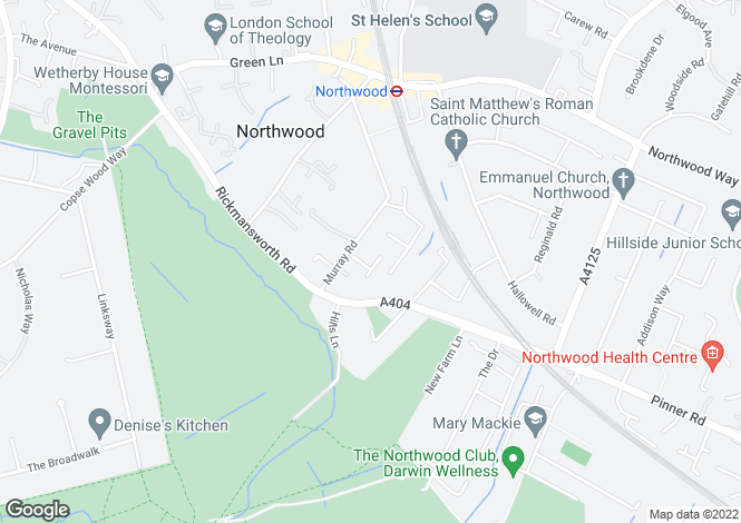 Map for Greenheys Close Northwood