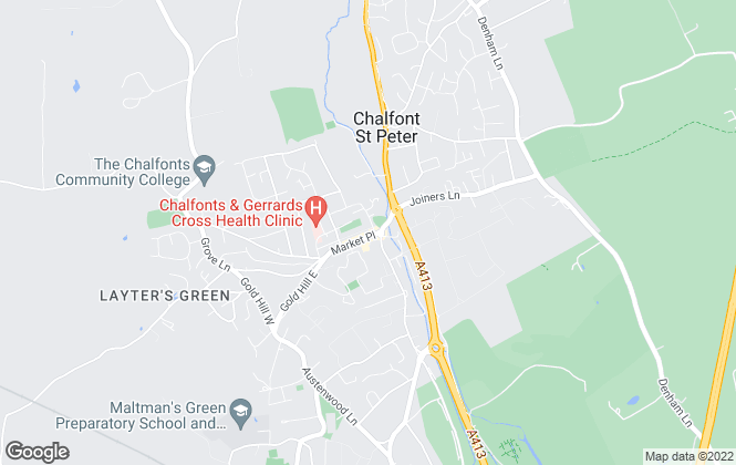 Map for Century 21 The Chalfonts, Chalfont St Peter