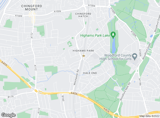 Map for W J Meade, Highams Park