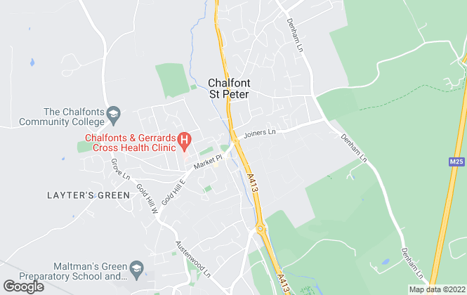 Map for The Frost Partnership, Chalfont St Peter
