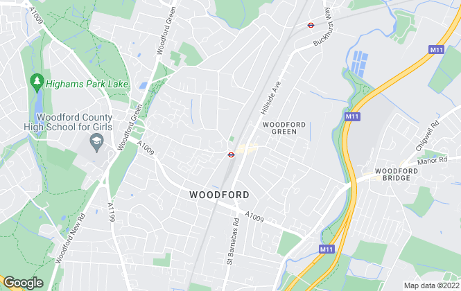 Map for Clarke Hillyer, Woodford Green