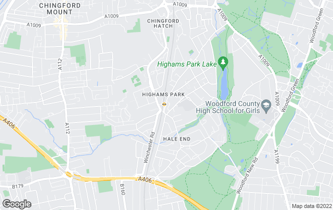 Map for Avenue Lettings, Highams Park