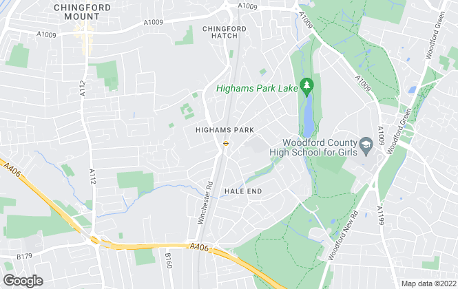 Map for Hobson, Highams Park, E4