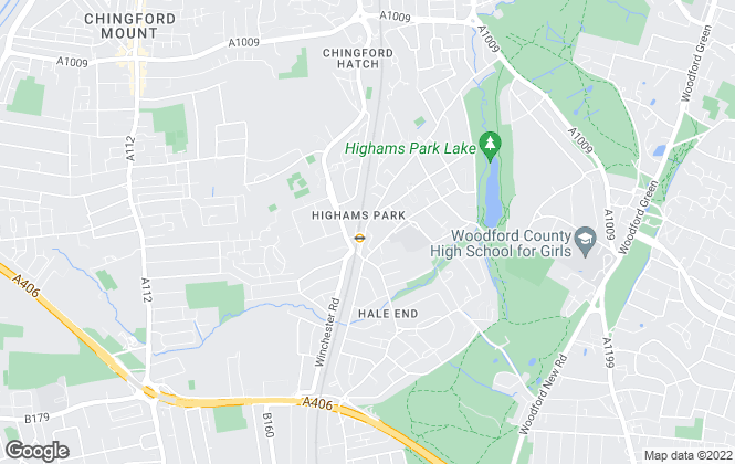 Map for Hobson, Highams Park, E4