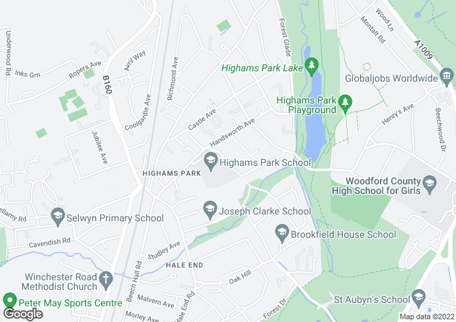 Map for 21 Church Avenue, Highams Park