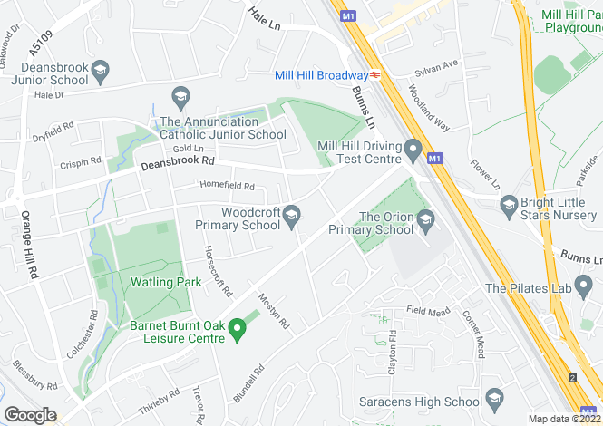 Map for Goldbeaters Grove, Edgware, HA8 0QA, Middlesex