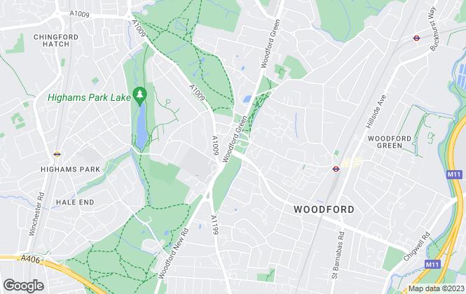 Map for Douglas Allen, Woodford Green