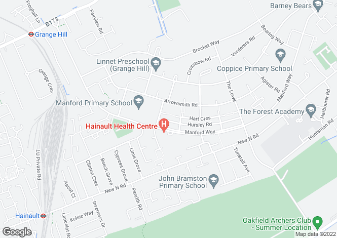 Map for Hind Close Chigwell
