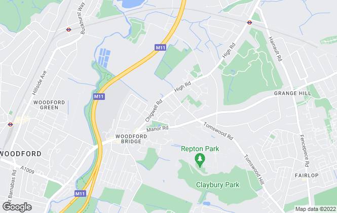 Map for James Ramsey, Woodford Green