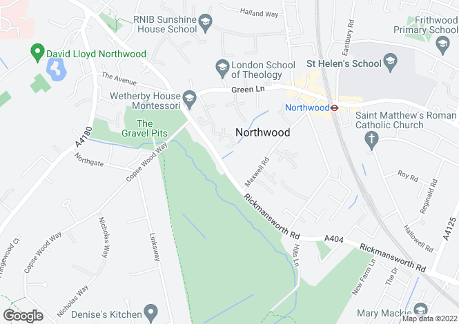 Map for Moray House, Rickmansworth Road, Northwood