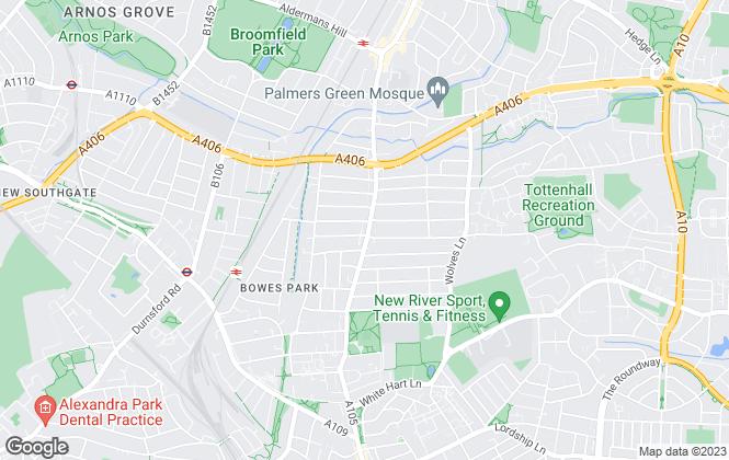 Map for Paul Simon Seaton Commercial Estate Agents Ltd, London