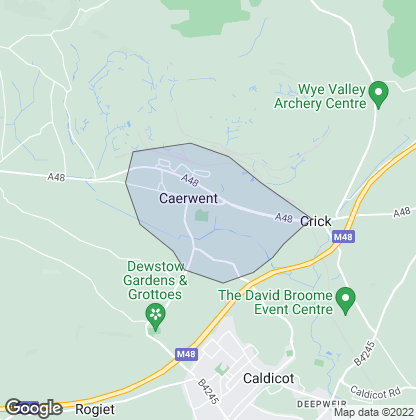 Map of property in Caerwent