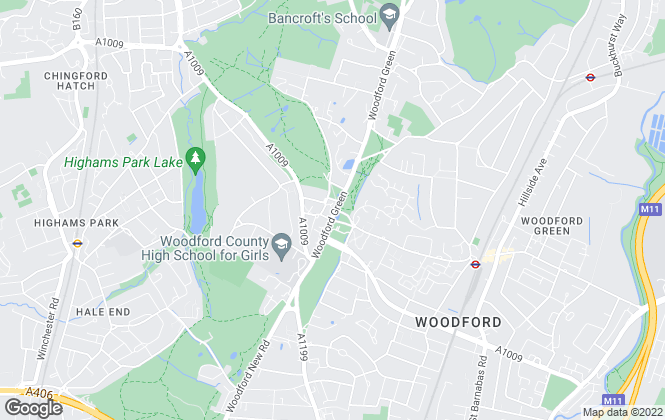 Map for Victor Michael, Woodford Green