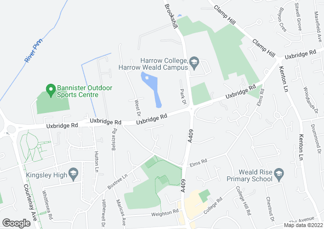 Map for Uxbridge Road, Harrow Weald, HA3