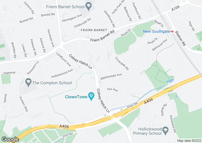 Map for Halton Close, Friern Barnet, London N11