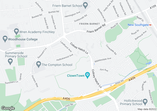 Map for Dudrich Close, Friern Barnet, N11