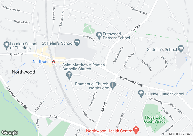 Map for Green Lane, Northwood, HA6