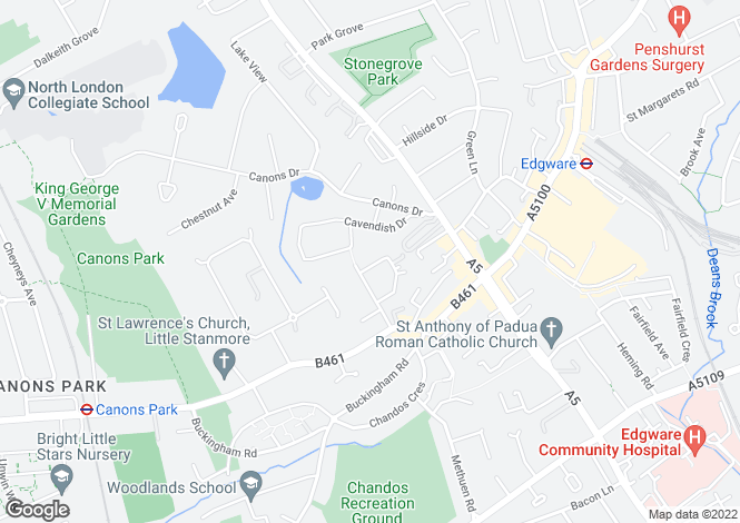 Map for Gresham Road, Edgware, Greater London, United Kingdom