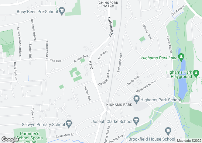 Map for WARBOYS CRESCENT,HIGHAMS PARK  E4