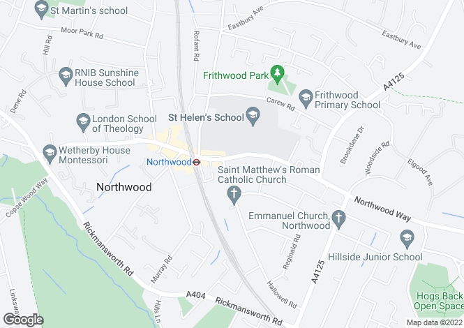 Map for Green Lane, Northwood HA6 1AJ
