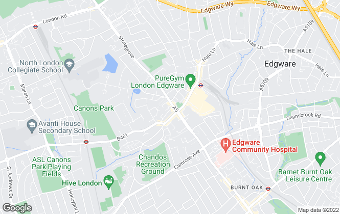 Map for The Property Shop, Edgware