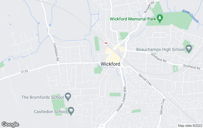Map for Barrett Estate & Letting Agents, Wickford