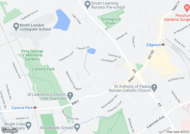 Map for Dorset Drive,