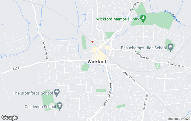 Map for Douglas Allen, Wickford