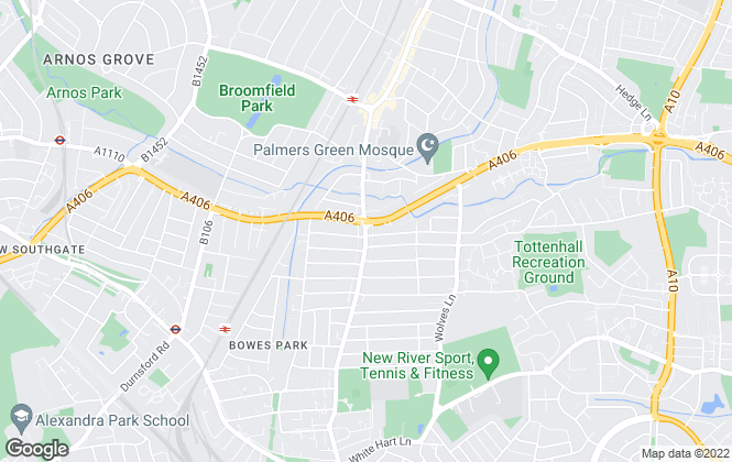 Map for Castles Estate Agents, Palmers Green