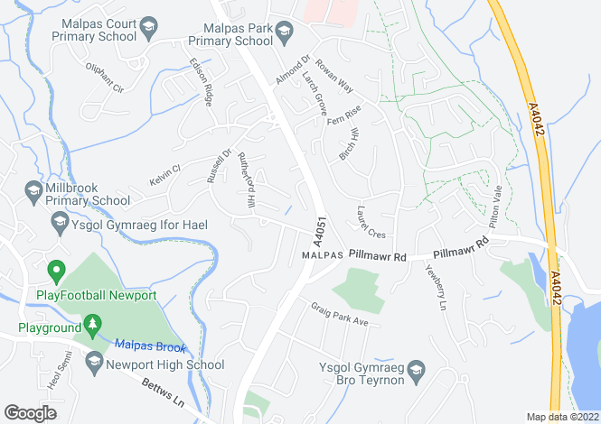 Map for Westfield Gardens, Malpas