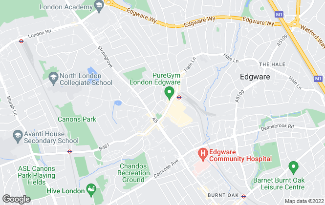 Map for Melvin Jacobs, Edgware