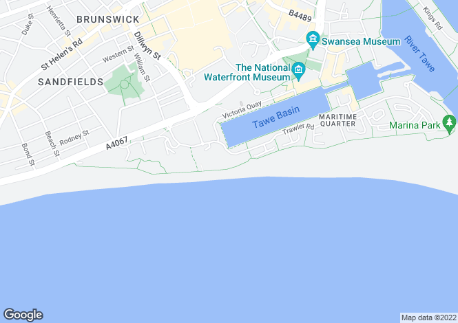 Map for Meridian Bay, Maritime Quarter, SWANSEA