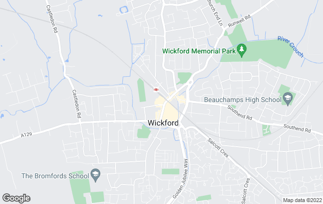 Map for Barrett Property Management, Wickford