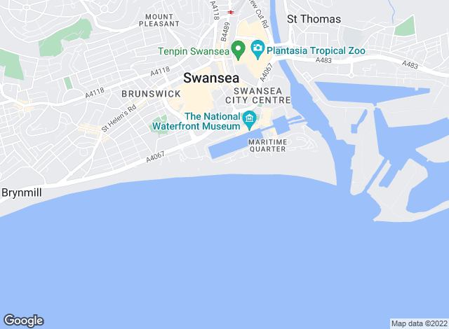 Map for Bay Estate Agents, Swansea